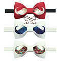 New Free Shipping fashion male MEN'S groom Groomsmen wedding original design Handmade High quality Beard printing Bow tie ONSALE