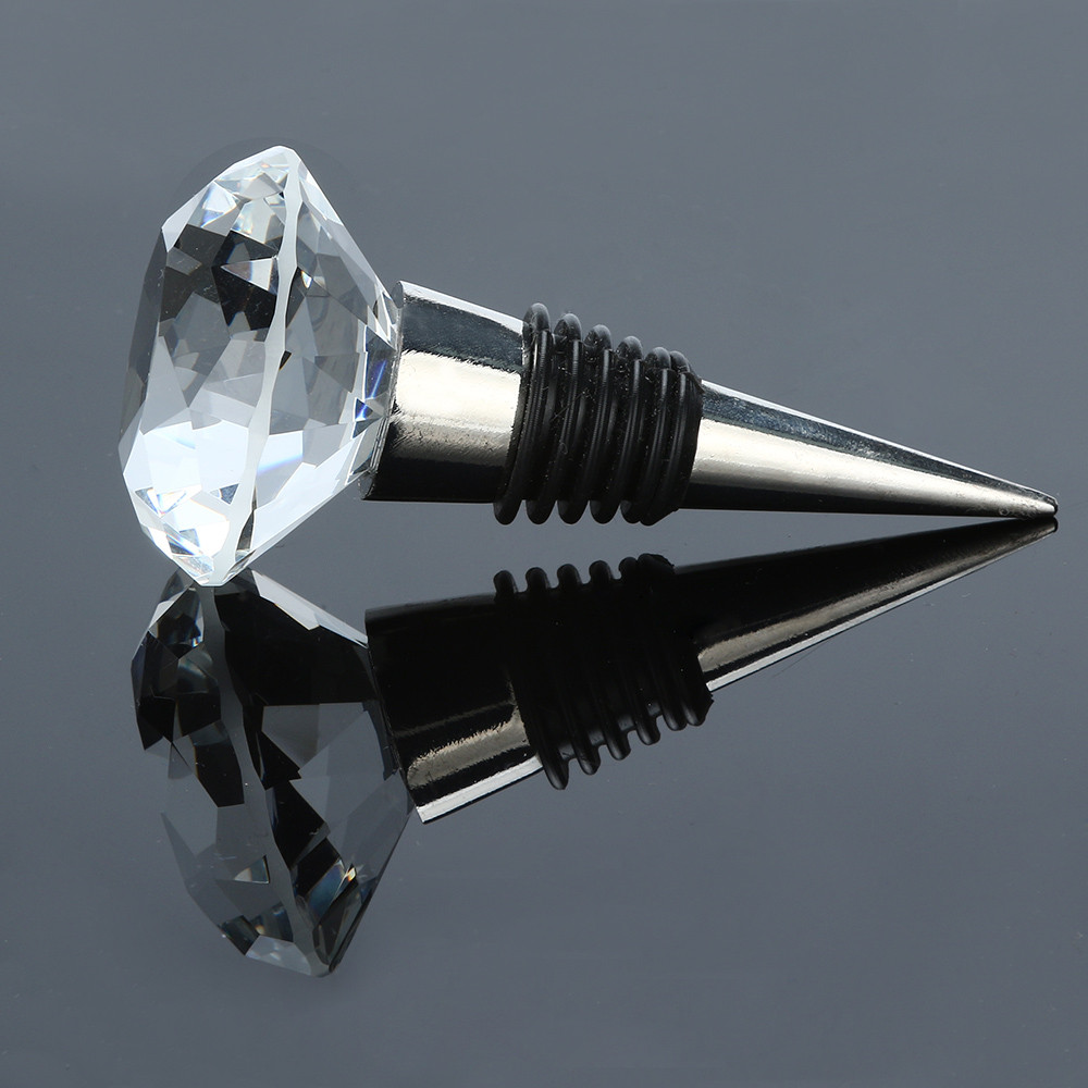 40mm Diamond Crystal Stainless Steel Champagne Stopper