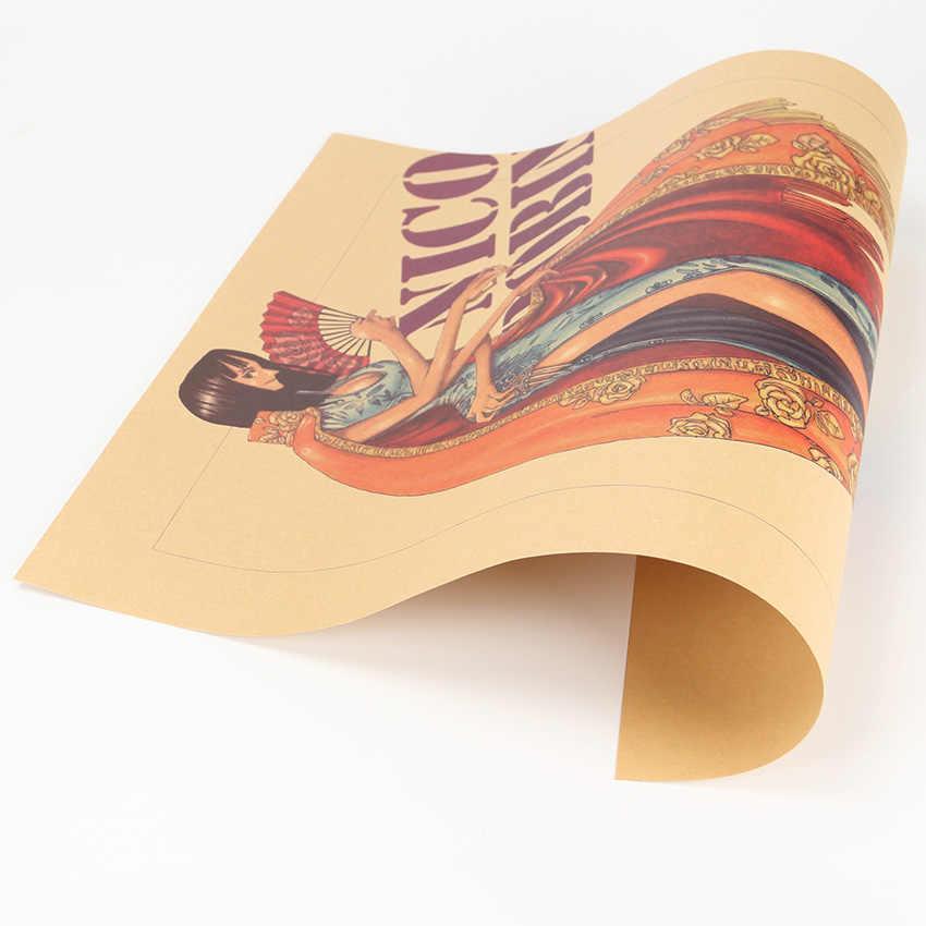 Плоский стикер на стену классический мультфильм фильм цельный персонаж красота Нико Робин крафт бумага постер с комиксом бары-Кафе Ретро 50,5X35 см