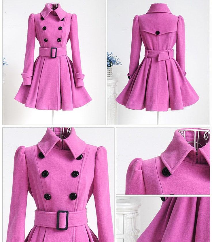 Autumn Winter Coat Women 2019 Fashion Vintage Slim Double Breasted Jackets Female Elegant Long Warm White Coat casaco feminino 57