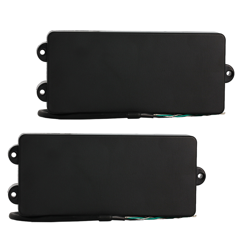 5 String Bass Guitar Pickup Humbucker Pickups for Electric Bass Bridge and Neck Set Parts Replacement Black belcat bass pickup 5 string humbucker double coil pickup guitar parts accessories black