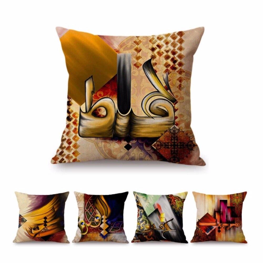 Cotton Linen Bolster Throw Pillow Gift Home Decor  Case Sofa Cushion Cover