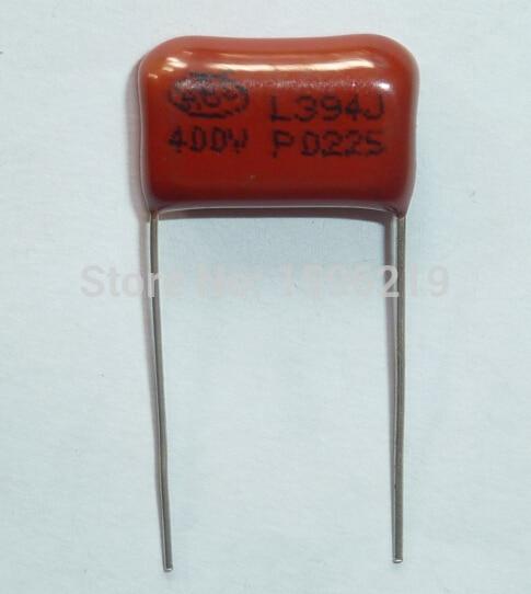 10pcs CBB Capacitor 394 400V 394J 0.39uF 390nF P15 CL21 Metallized Polypropylene Film Capacitor