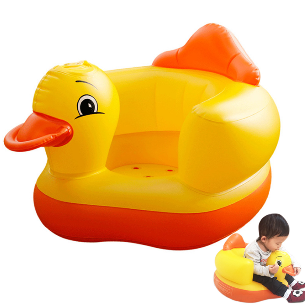 Multifunctional Inflatable Duck Toys Eco-friendly Wear-resistant Ergonomic Baby Pool Rafts For Kids Inflatable Ride-ons Gifts