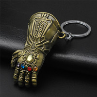 Marvel Avengers Infinity War Thanos Glove Gauntlet Keychain Gold Color 4