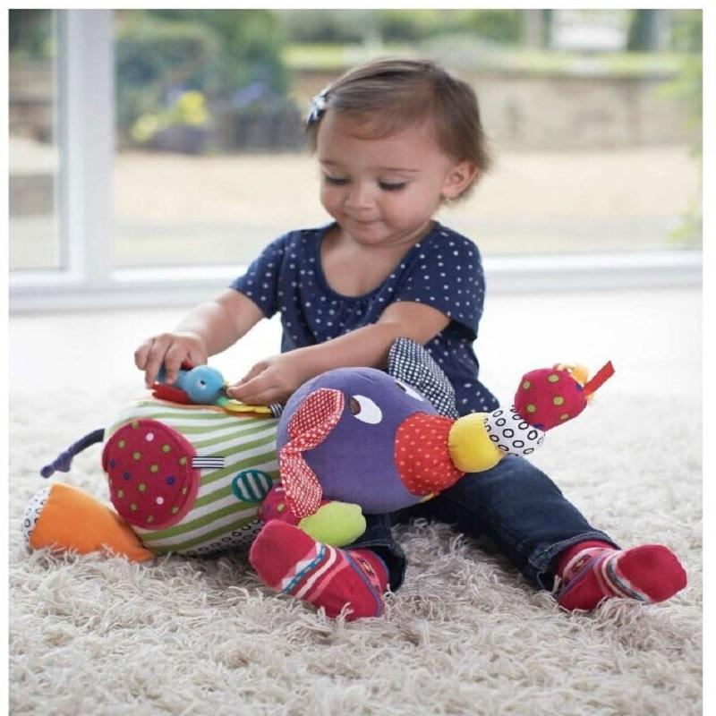 רך פיל מחרטה התינוק צעצוע צעצוע חינוכי צעצוע חינוכי לפעוט 0-12 חודשים תינוק רטל תינוק רך תינוק תינוק