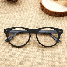 a63508c1fcb 2019 New Vintage Retro Acetate Round Eyeglasses Frame Men Women Handmade  Wood Grain Myopia Prescription Optic Glasses Frame NX