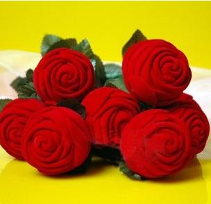 Free shipping 3pcs/<font><b>lot</b></font> Red Rose Engagement Wedding Earring Ring Pendant <font><b>Jewelry</b></font> Display Holder Box Gift Magic Tricks <font><b>Fun</b></font> Toys image