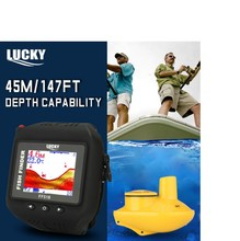 LUCKY Fish Detector Watch New sonar fish finder wireless 180ft Wireless Sonar Sensor Clock Mode Rechargeable 60m ff518 wireless