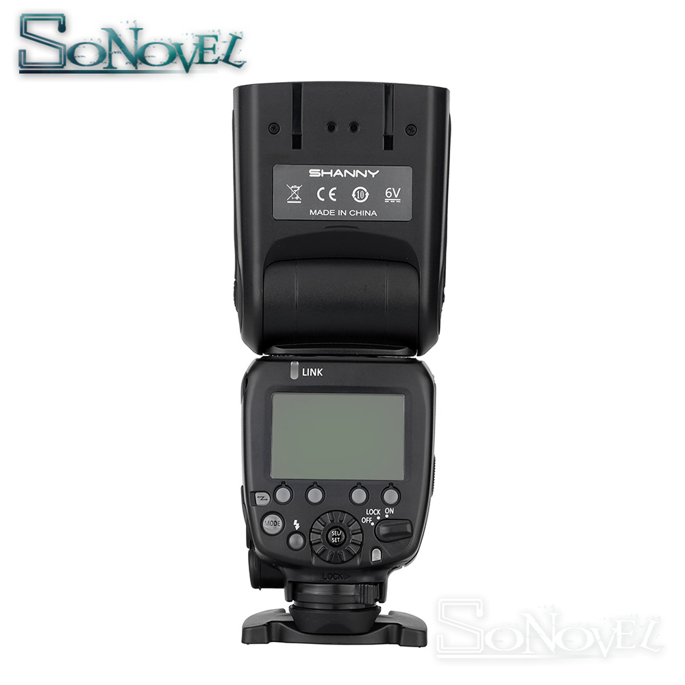 Shanny SN910EX-RF i-TTL HSS 1/8000s GN60 Master/Slave 2.4G Wireless Radio Flash Speedlite for Nikon D850 D810 D800 D750 D500 D5