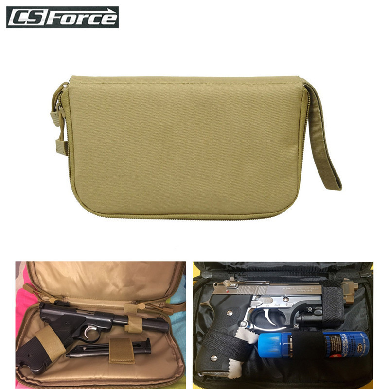 Tactical Portable Handgun Pistol Carry Bag Concealed Military Holster Gun Pouch Soft Protection Case Hunting Gun Accessories