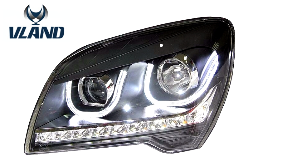 VLAND manufacturer for Car head lamp for Sportage LED Headlight 2007 2009 2012 2013 Head light with H7 Xenon lamp and Day light vland 2pcs car light led headlight for jetta headlight 2011 2012 2013 2014 demon eyes head lamp