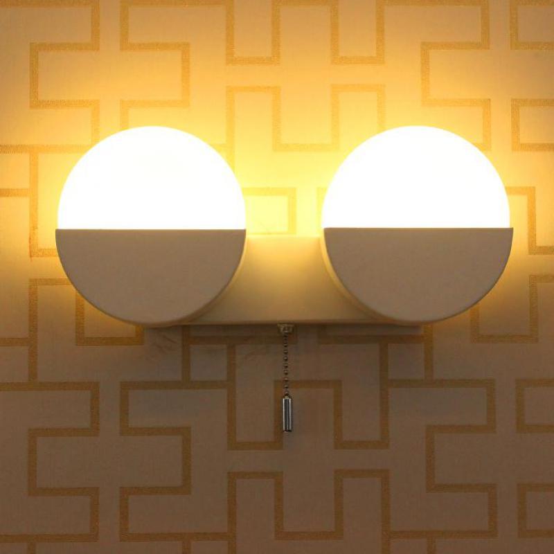 ФОТО Japan Style 5-10W led strip reading light wall lamp sconce Modern Led mirror light Wall Mounted Ac110-240V Iron Glass Cafe light
