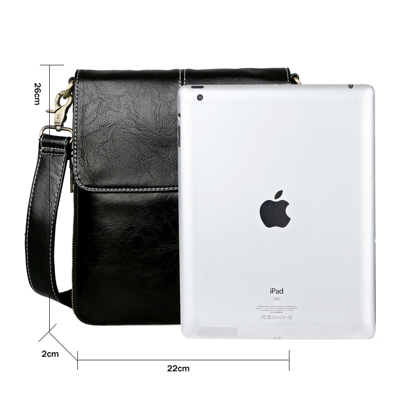 bcc959b41ecd VICUNA POLO Classic Black Soft Leather Man Messenger Bag Scalable Design  Men s Crossbody Bag Travel Layer Shoulder Bag For Men on Aliexpress.com