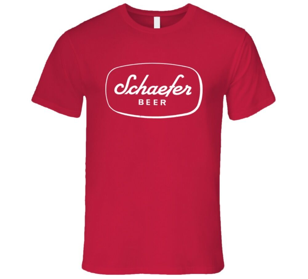 Schaefer Beer America Beer First Produce In New Yotk City 1842 T Shirt Fashion Style Men Tee Comfortable t shirt mens tee shirts image