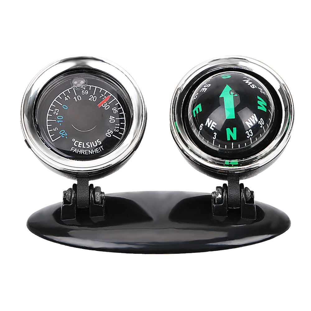 2 in 1 Compass Thermometer Car Ornaments Direction Dashboard Ball Vehicle Automotive Accessories