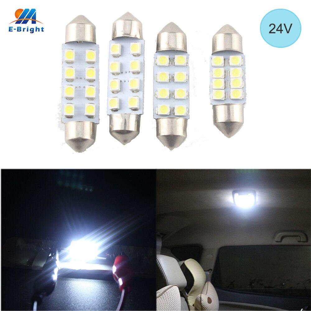 10X 5050 41Mm 8Smd Car Interior Dome Festoon Led Light Bulbs Lamp Dc12V ZR