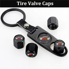 10set Key Chain Tire Valve Caps Emblem Tyre Air Stems Cap Car Wheel Cover Tire Accessories for audi for toyota for bmw for hond