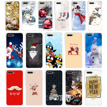 147WE happy New Year merry ChristmasSoft Silicone Tpu Cover Case for huawei Honor 7a pro 7x 7c Nova 2i 3 3i p smare(China)