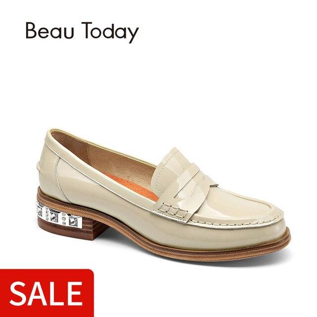 9f906a4b076 Cantik Penny Loafer Wanita Kulit Asli Sepatu Moc Toe SLIP ON Fashion Sepatu  Kulit Flat 27034