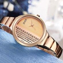 Zivok Criativo Amantes Das Mulheres Bracelet Watch Rose Gold Ladies Mulheres Relógios Relógio Relogio feminino Luxo Menina de Pulso de Quartzo