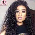 360 Peruca Dianteira Do Laço 180% Densidade Cheia Do Laço Perucas de Cabelo Humano para As Mulheres Negras Onda Profunda Curly 360 Cabelo Humano Dianteira do Laço perucas