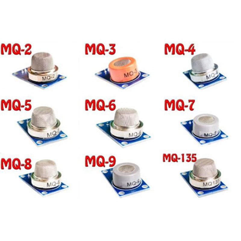 Gas detection module MQ-2 MQ-3 MQ-4 MQ-5 MQ-6 MQ-7 MQ-8 MQ-9 MQ-135 each of them 1pcs total 9pcs sensor for arduino 10pcs mq6 mq 6 dip6 gas sensor winsen