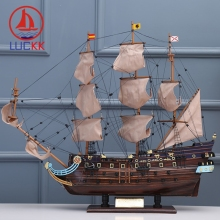 купить LUCKK DIY 85 CM SAN FELIPE Wooden Sailboat Ship Model Home Interior Decoration Crafts Gift Sailing Model Classics Home Interior по цене 7021.14 рублей