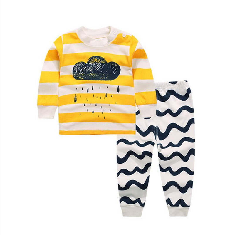 Baby Boy Girl Clothes Kids Clothes Sets T-shirt+pants Suit Clothing Set Cloud Printed Clothes Newborn Sport Suits baby boy clothes 2017 brand summer kids clothes sets t shirt pants suit clothing set star printed clothes newborn sport suits