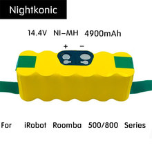 Nightkonic 14.4V NI-MH 4900mAh Rechargeable  Battery pack For  iRobot Roomba 500 600 700 800 Series Vacuum Cleaner Yellow