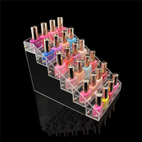 New 6 Tiers Rack Acrylic Clear Nail Gel Polish Cosmetic Varnish Display Stand Holder Manicure Tool Organizer Storage Removable