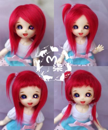 New 1/12 3-4 inch 9-10cm 1/8 4-5 inch 12cm 14cm BJD fabric fur wig red color Fur Wig For AE PukiFee lati Antiskid BJD Doll Wig uncle 1 3 1 4 1 6 doll accessories for bjd sd bjd eyelashes for doll 1 pair tx 03