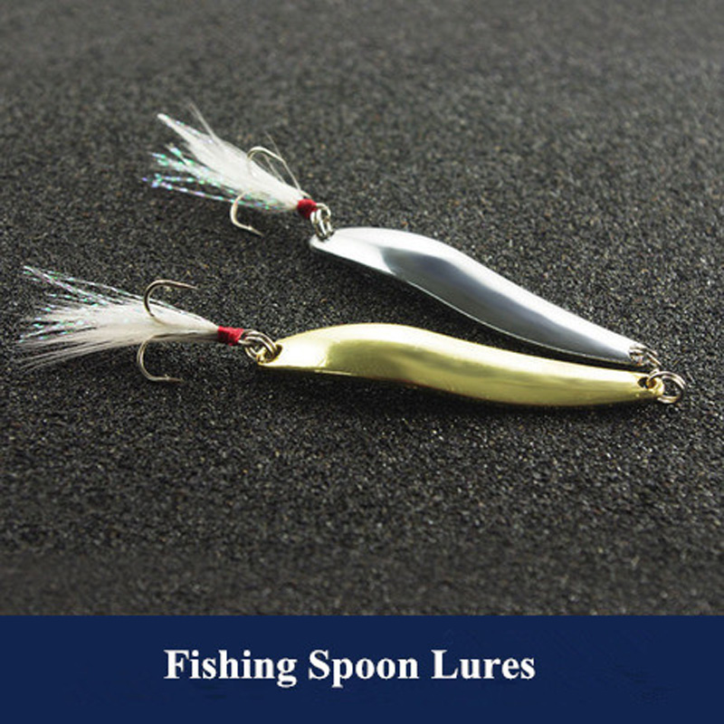 Fishing single curve spoon lures classic jigbait spoons for Spoon fishing for bass