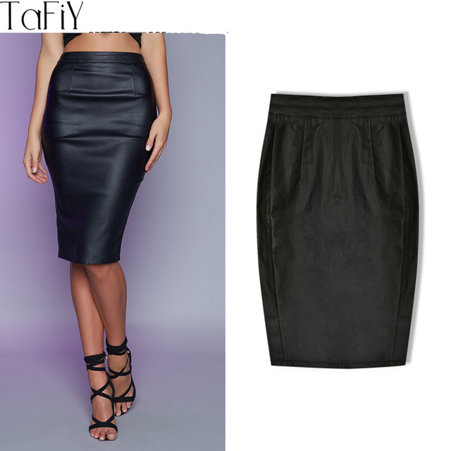 Aliexpress.com : Buy TaFiY 2017 Fashion High Waist faux leather ...