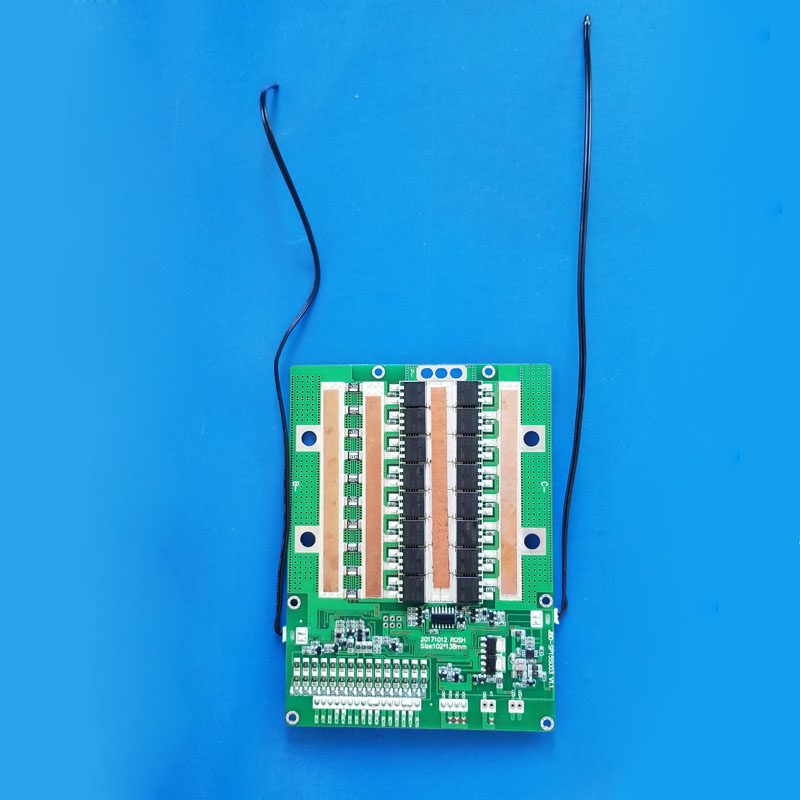 12S 36V Lifepo4 Smart Bluetooth BMS with 100A constant current software APP  PCB UART communication BMS 43 8V for solar power