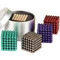 216 pcs 5 mm neodímio magnéticos bolas esferas contas cubo mágico ímãs enigma bloco cubo Magico presente de aniversário para crianças