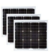 Solar Panel Monocrystalline 12v 30w 3 Pcs Panneaux Solaires 90w 48v Battery Charger Home Kit Caravan Car Camp LM