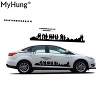 DIY 2 PCS A Lot Personality For Ford Fox Car Styling Waterproof Car Stickers ARMY World