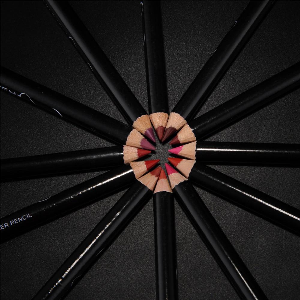 12pcs/set Professional Matte Lip Liner Pencil Set