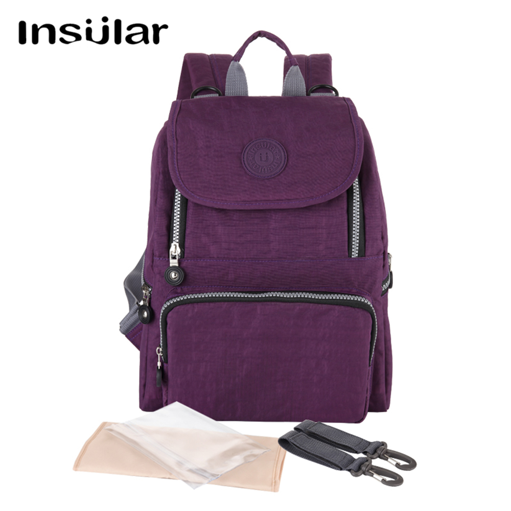 Insular Fashion Multifunctional Backpack Nappy Bag Mummy Maternity Nappy Bag Large Capacity Baby Bag Trave Backpack
