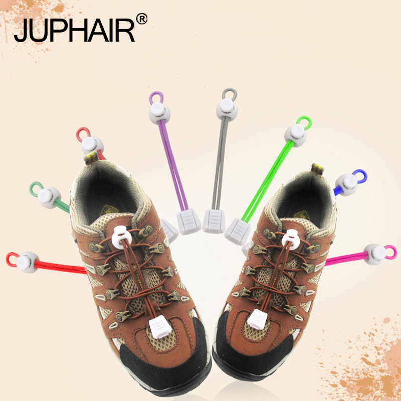 New 1 Pair Round Colored Shoe Laces for Children Men Fashion Elastic Rubber Adjustable Shoelaces Fashion Lazy Shoelaces Strings цена