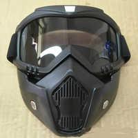 Heiße Verkäufe Modulare Maske Abnehmbare Brille Und Mund Filter Ideal für Offene Gesicht Motorrad Halb Helm oder Vintage Helme