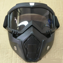 ae14de5d03 Hot Sales Modular Mask Detachable Goggles And Mouth Filter Perfect for Open  Face Motorcycle Half Helmet