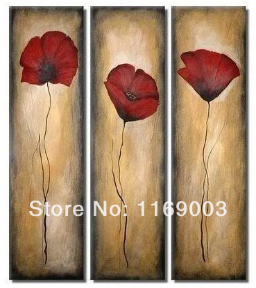 Abstract piece wall art red poppy flower cheap modern art oil abstract piece wall art red poppy flower cheap modern art oil mightylinksfo