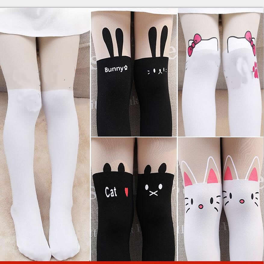2-15Y Baby Kids Girls Tights Cute Pantyhose Korean Style Kids Pantyhose Children Knee Stocking Tights For Girls Tights
