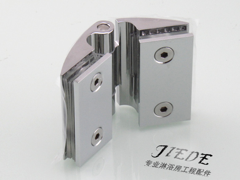 Glass door hinge hinge high compartment glass partition door hinge clip bathroom shower room accessories free hinge