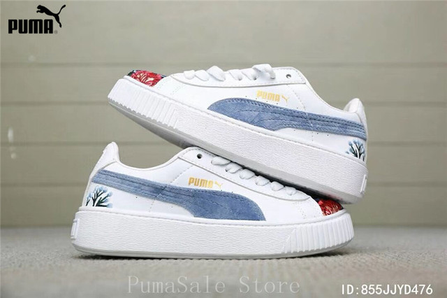 adae6886b86 2018 New Arrival PUMA Platform Hyper Emb Rihanna Sneaker Flower Embroidery Women  Badminton Shoes Size EUR35