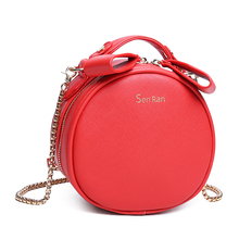 Women New Handbags Female Fashion Pu Leather Zipper Shoulder Bags Girls Small Circular Bag