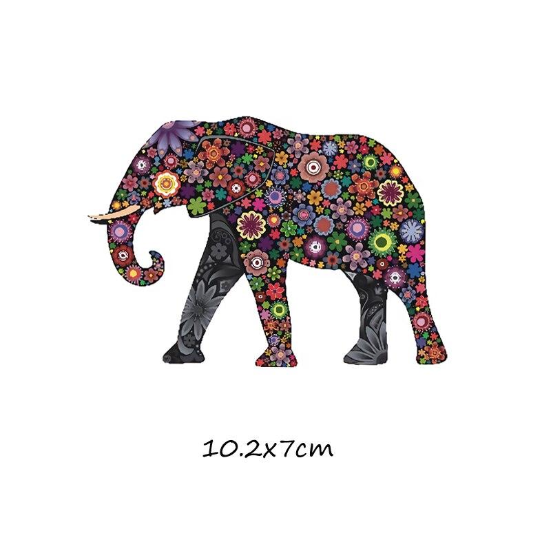 Милый мультфильм животных Комбинации гладить на патч ручной работы термоприклеивание, наклейки для Костюмы значки аппликаций для украшения из ткани - Цвет: J-61-21