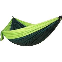 Hamaca portátil de doble Persona de tela de nailon de paracaídas de viaje ultraligero Camping hamak muebles de exterior casual cama colgante hamma